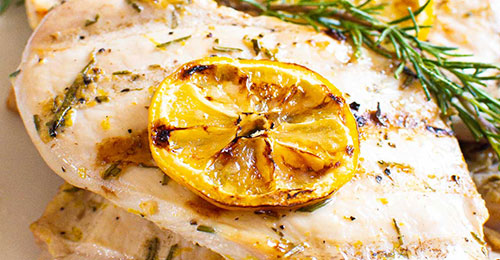 grilled chicken with lemon