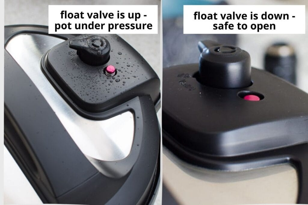 float valve up and down on instant pot lid