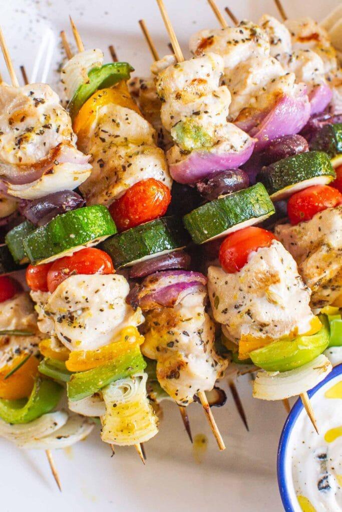 greek chicken kabobs with zucchini