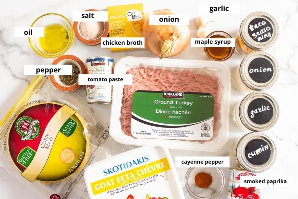 ground turkey taco ingredients