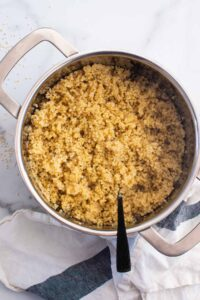 Garlic Butter Shrimp, Quinoa and Asparagus