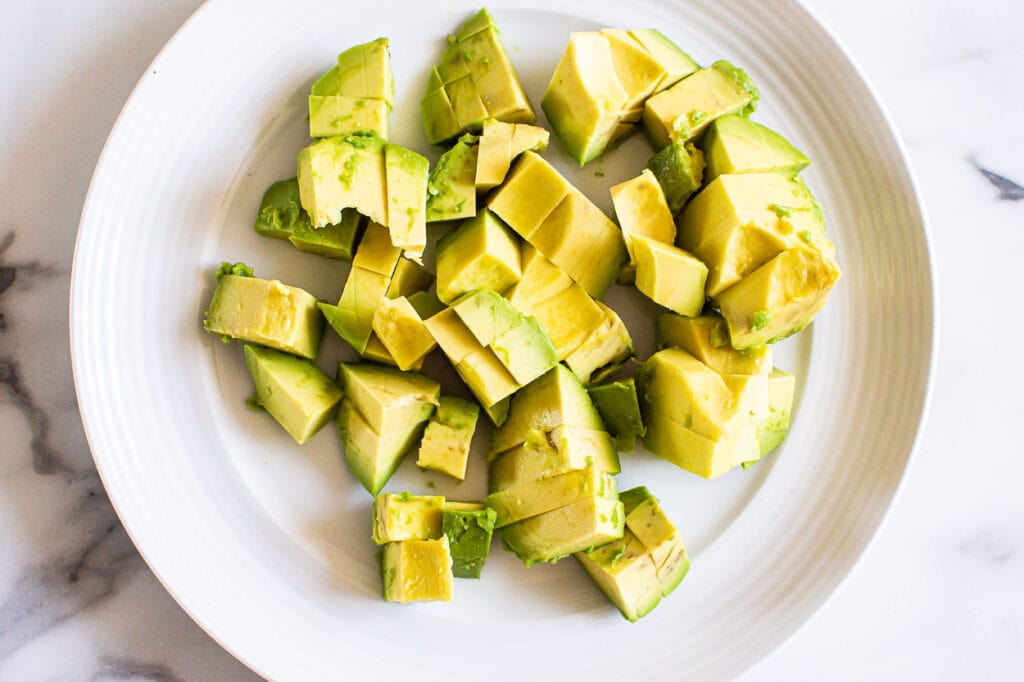 avocado cut on a plate