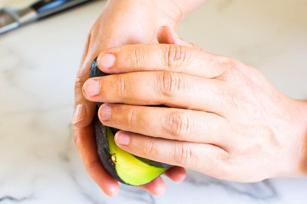 twist open an avocado