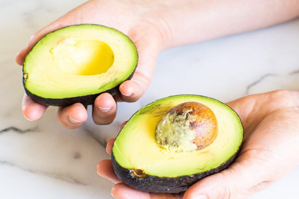 twist open the avocado