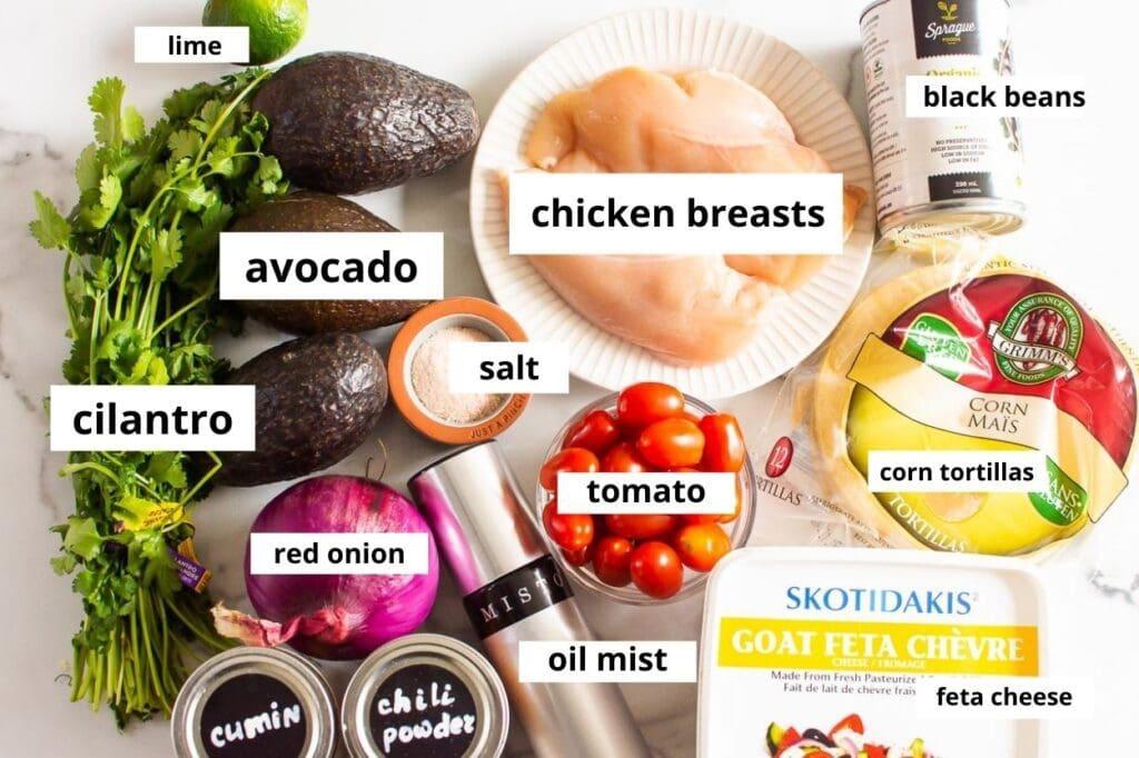 ingredients chicken tostada