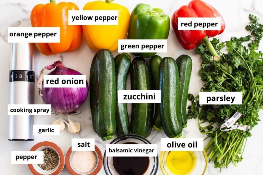 grilled vegetables ingredients