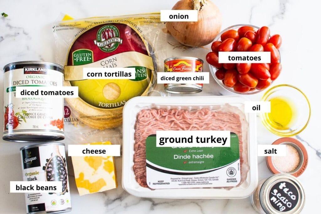 ingredients taco skillet