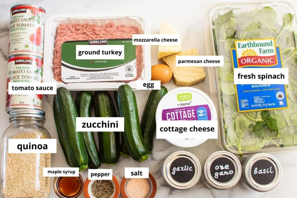 ingredients zucchini lasagna