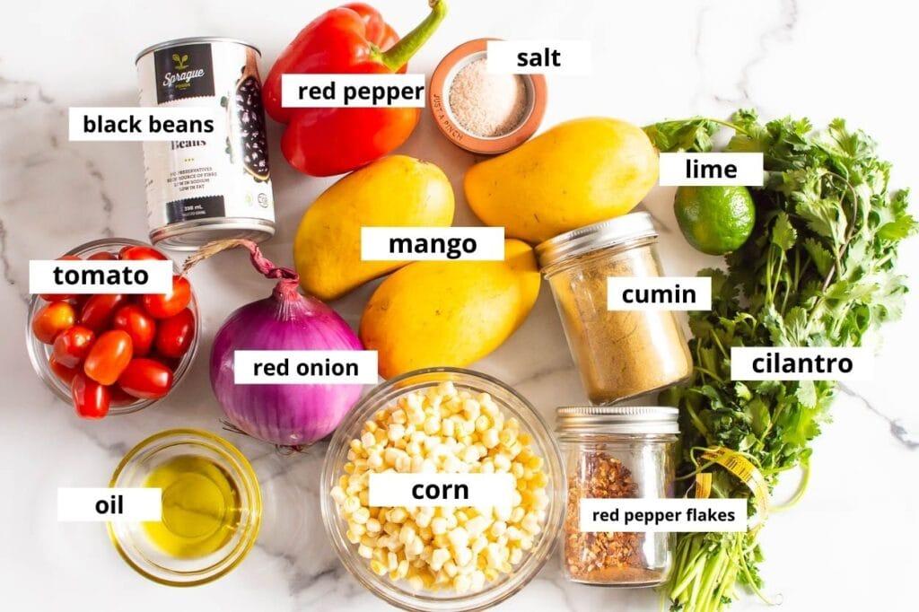 mango black bean ingredients
