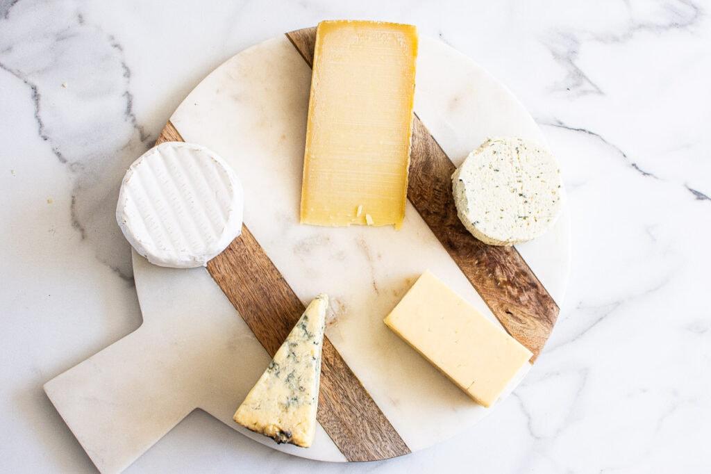 arrange cheese