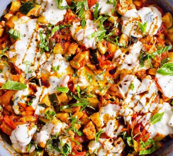 Caprese Chicken and Zucchini