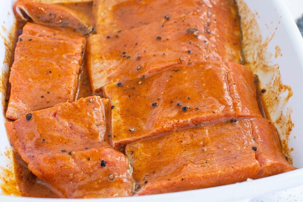 salmon quick marinade