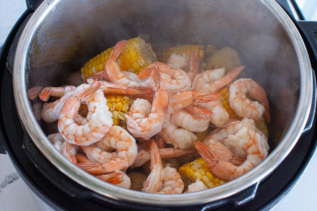 instant pot shrimp boil done