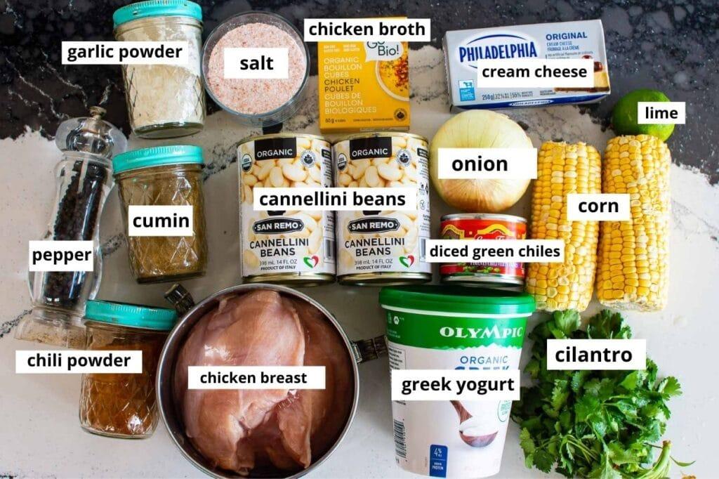 instant pot white chicken chili ingredients