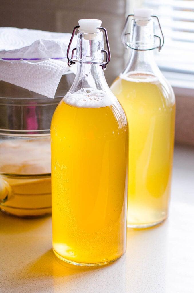 bottled fermented tea