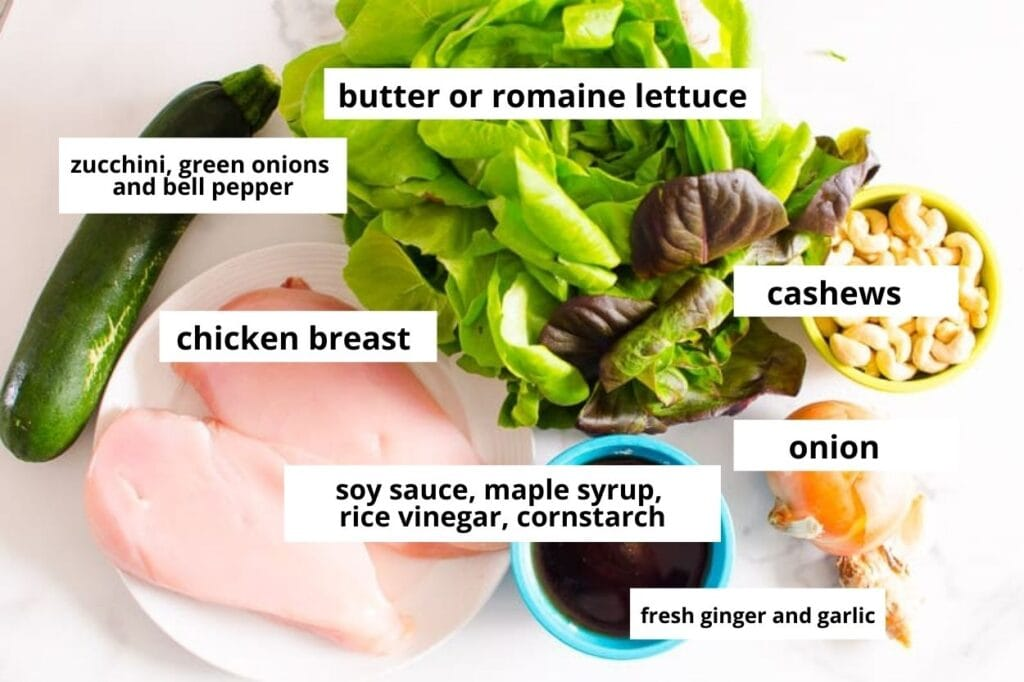 lettuce wraps with chicken ingredients