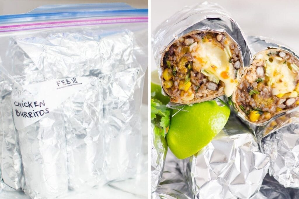 healthy freezer meals chicken burritos