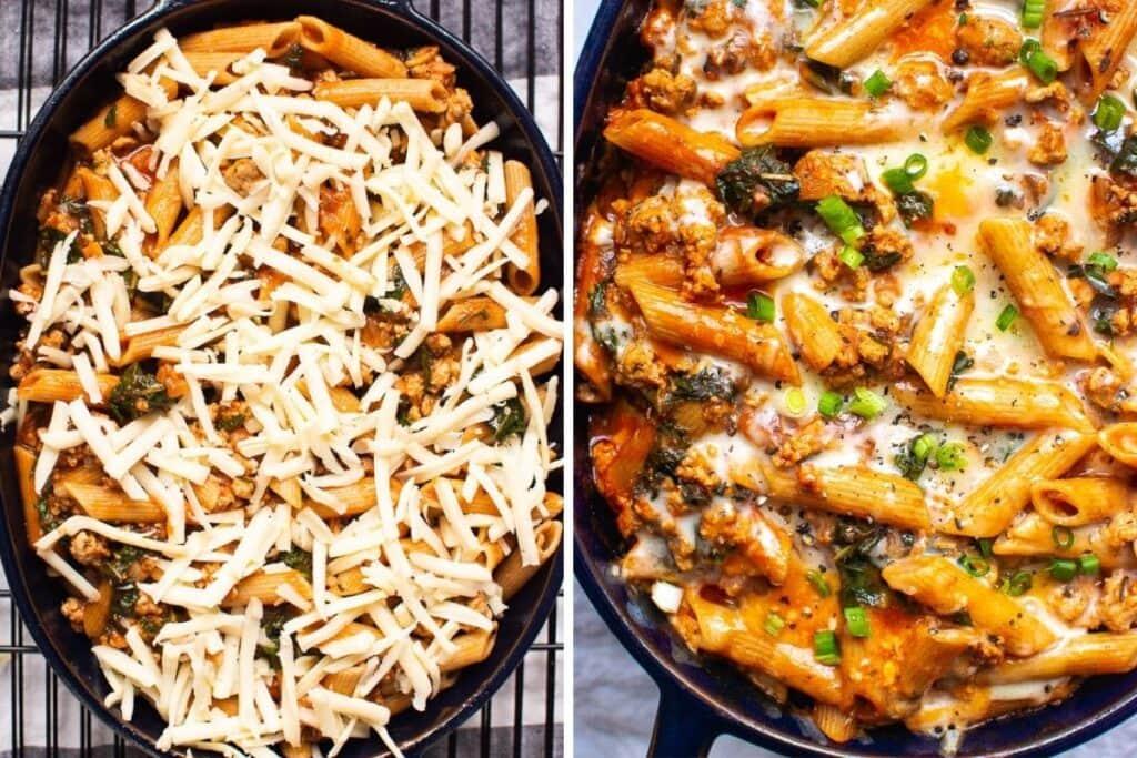 healthy freezer meals ground turkey pasta bake