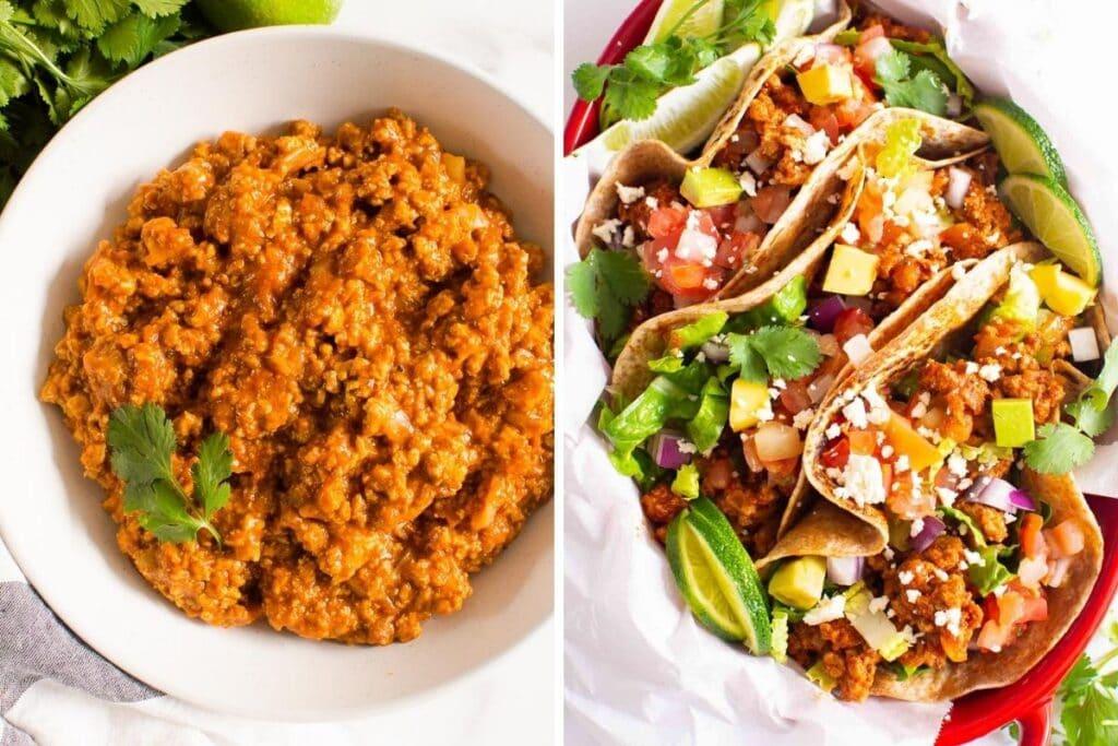 healthy freezer meals ground turkey tacos