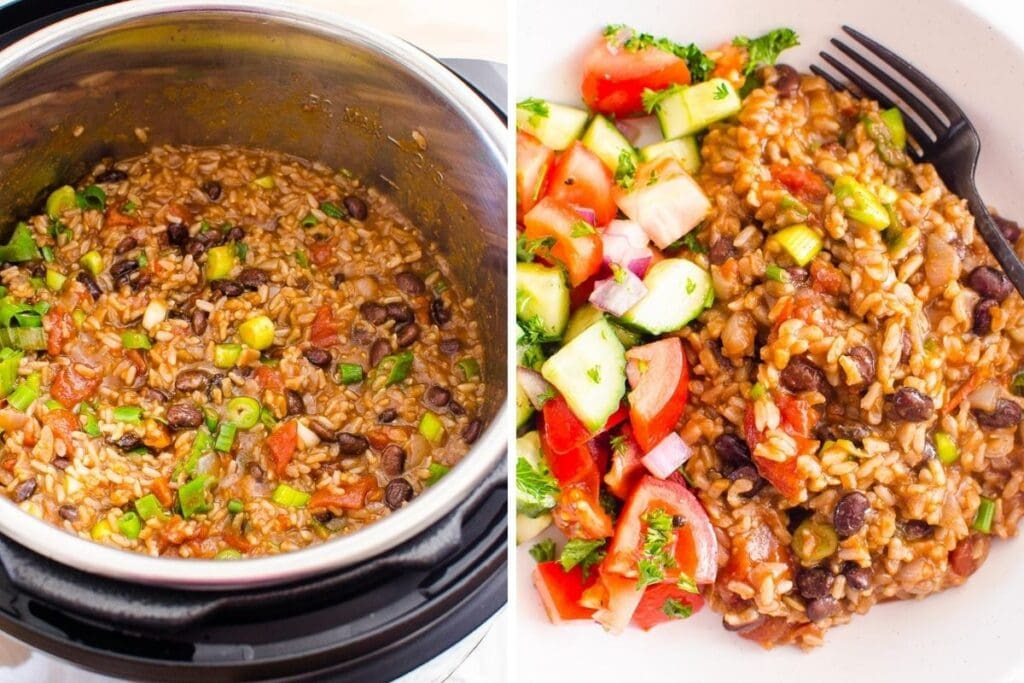 healthy freezer meals instant pot rice and beans