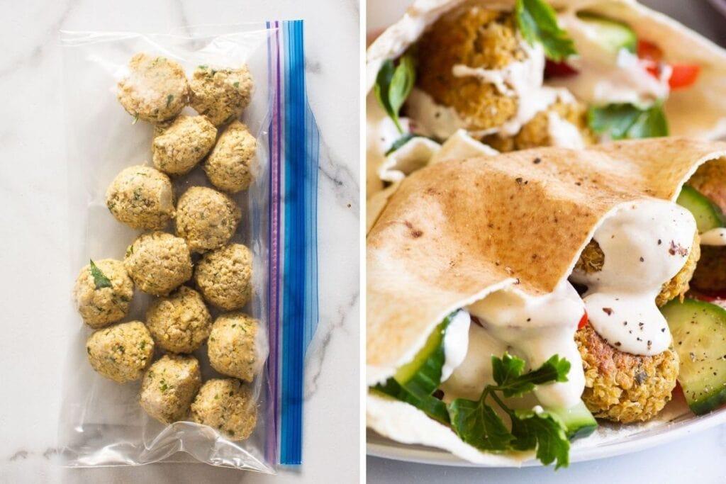 healthy freezer meals quinoa falafel