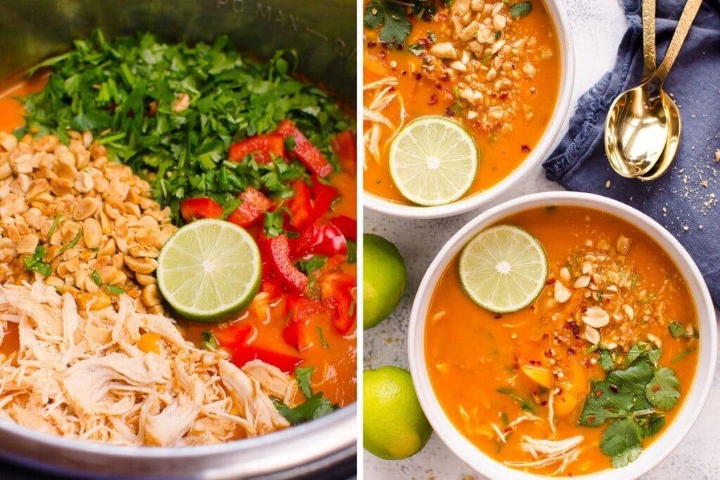 healthy freezer meals thai chicken soup
