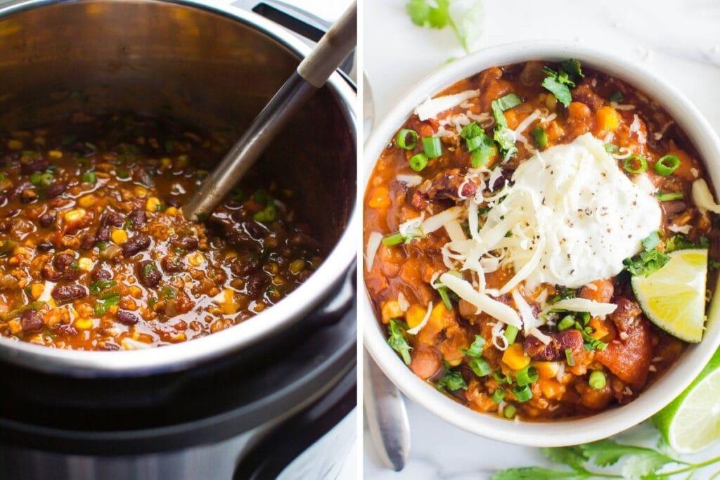 healthy freezer meals turkey chili