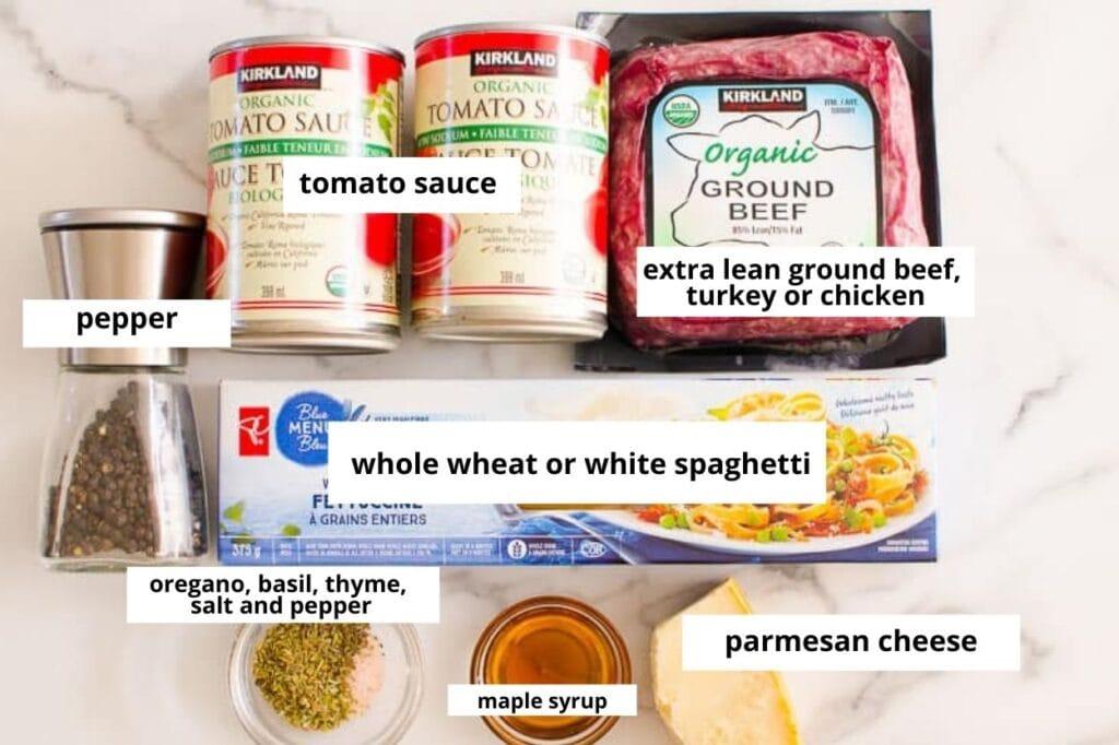 instapot spaghetti sauce ingredients