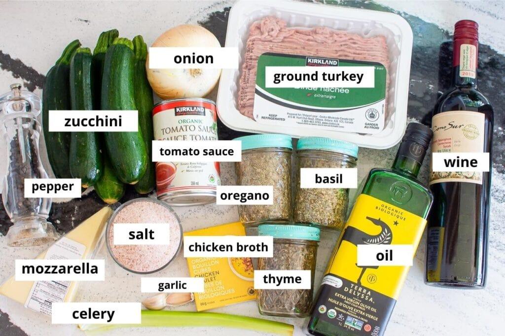 zucchini boat ingredients