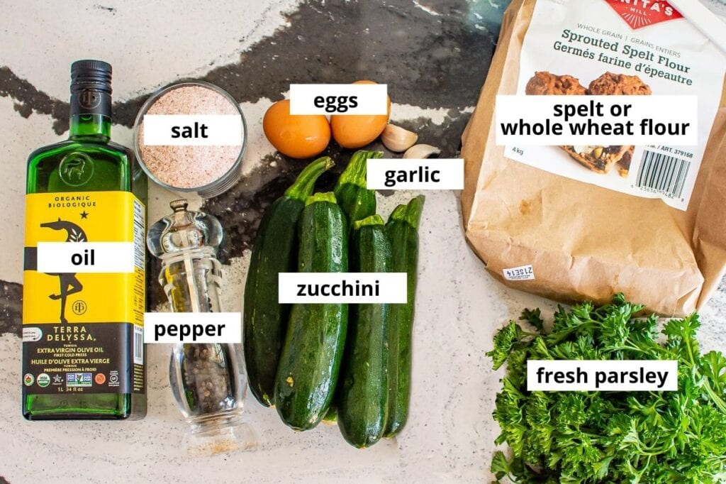 zucchini fritters ingredients
