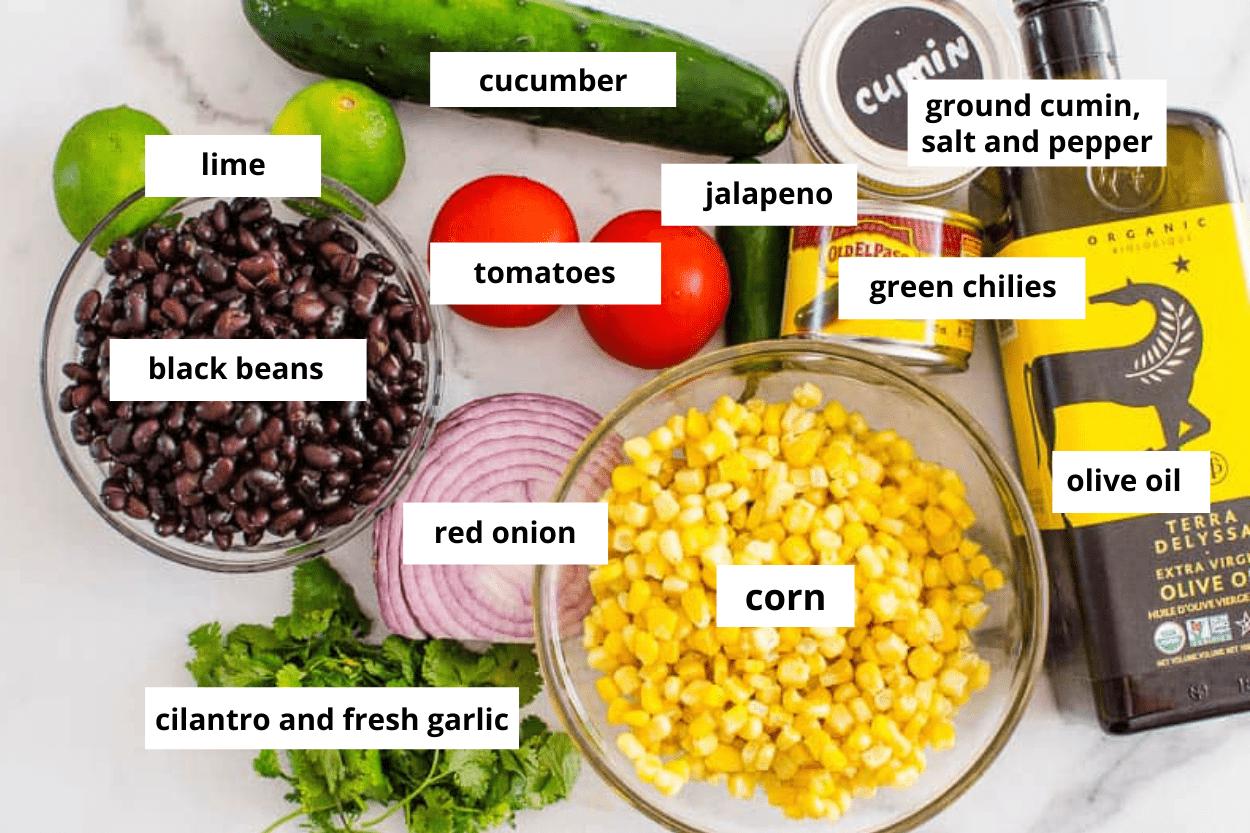black bean salsa ingredients