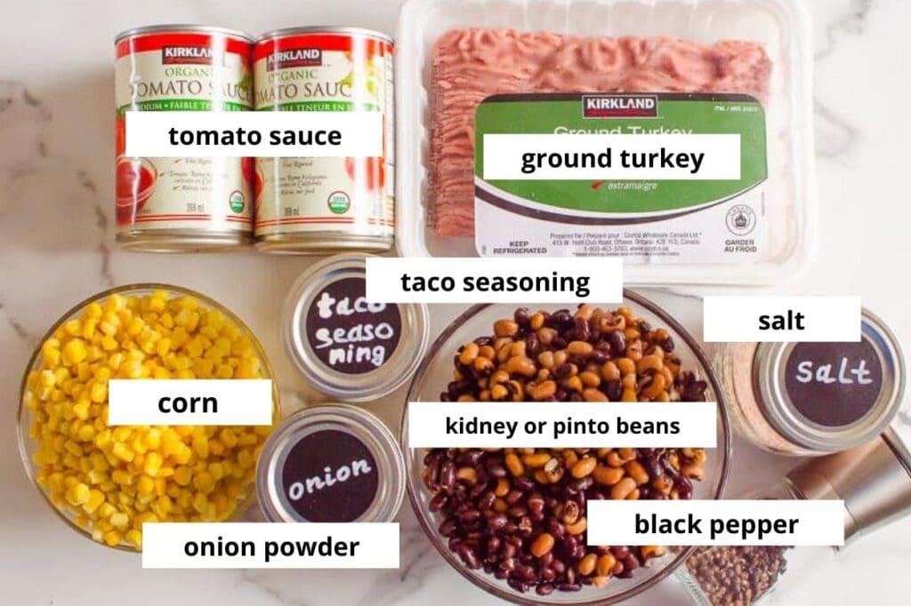 instant pot taco soup ingredients