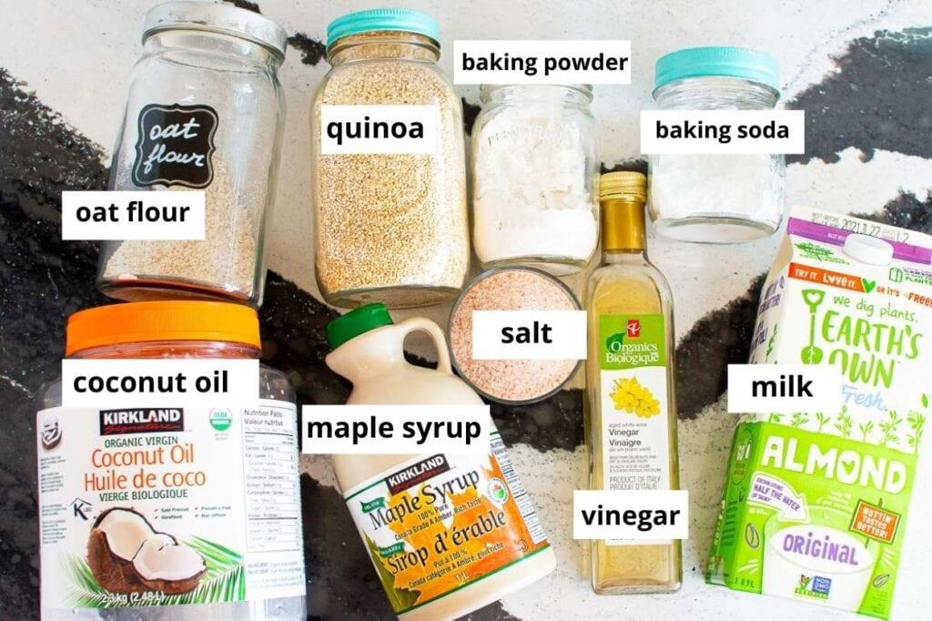 quinoa flour bread recipe ingredients