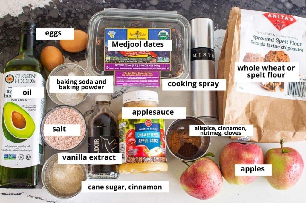 apple muffins ingredients