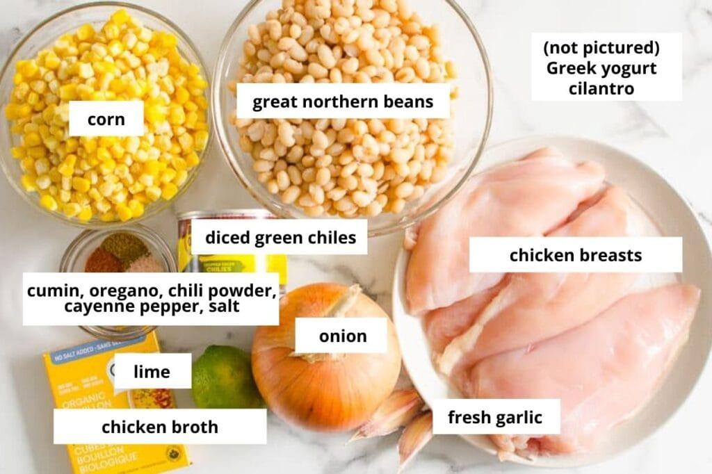 healthy white chicken chili ingredients