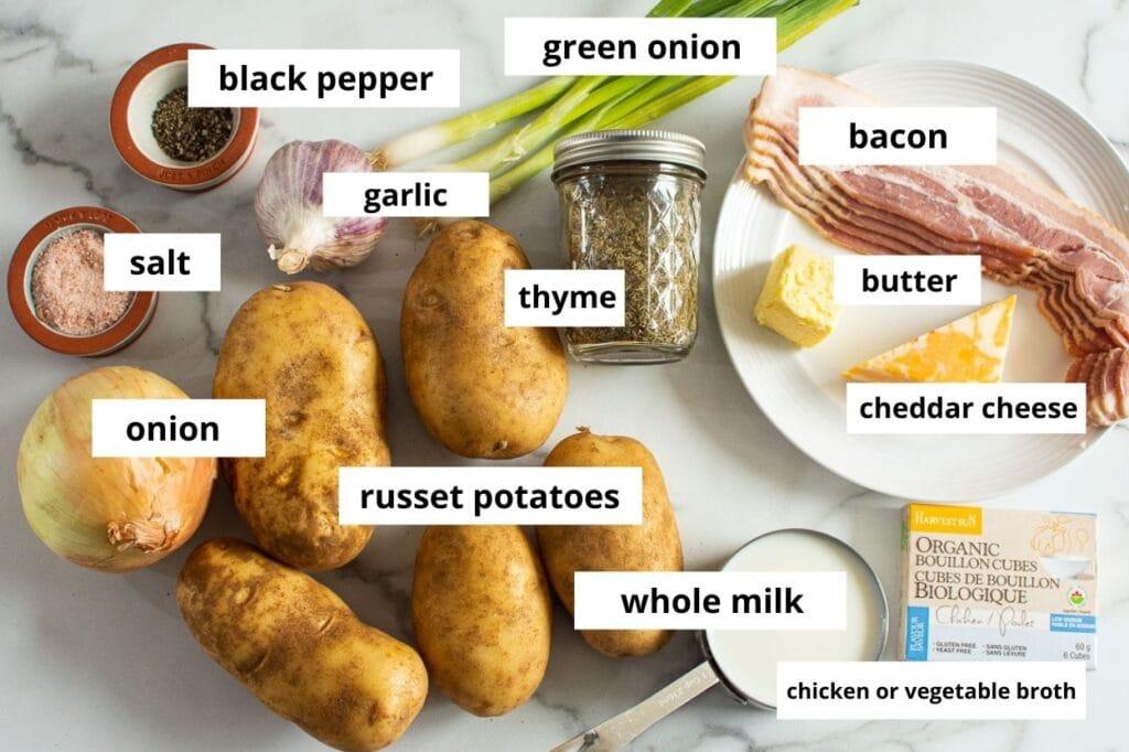 instant pot potato soup ingredients