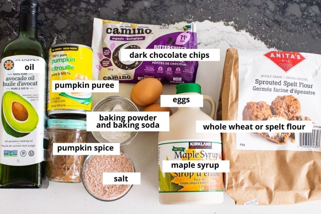 pumpkin chocolate chip bread ingredients