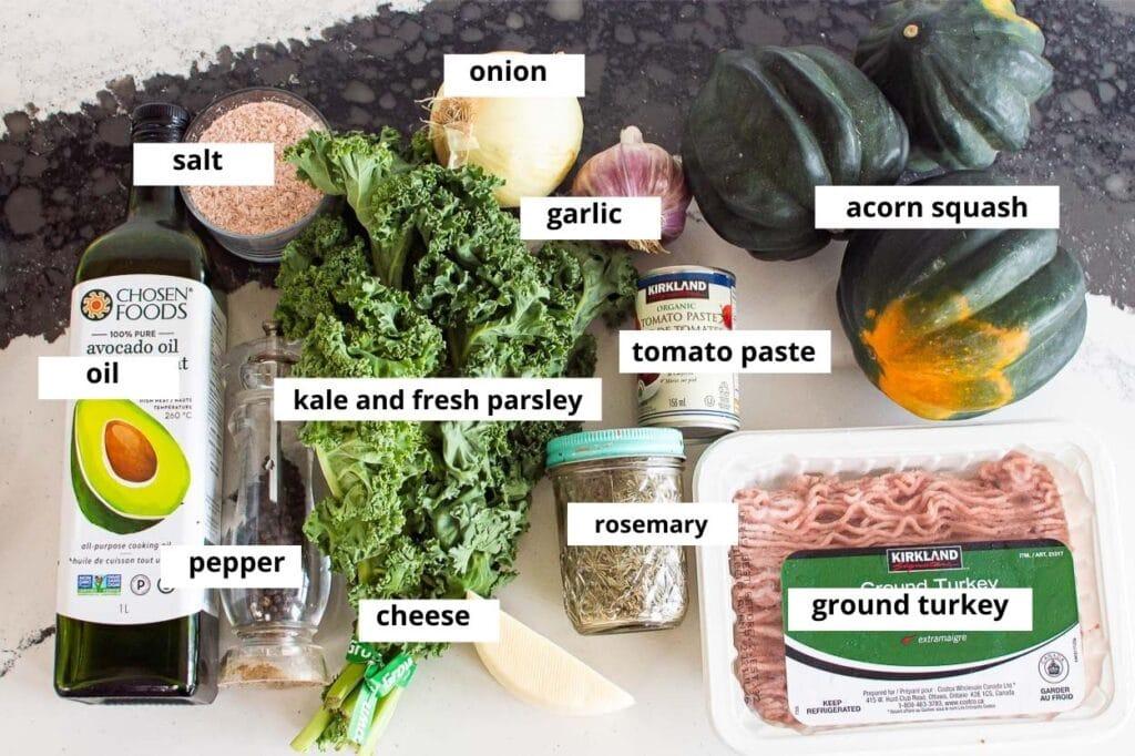 összetevők a receptekhez