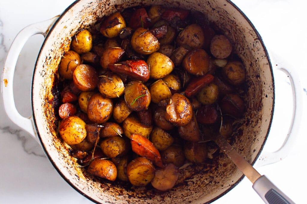 roasted veggies in dutch oven