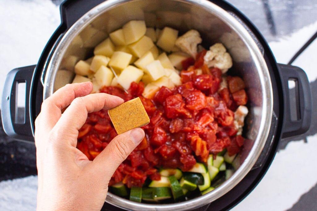 add bouillon cube to instant pot